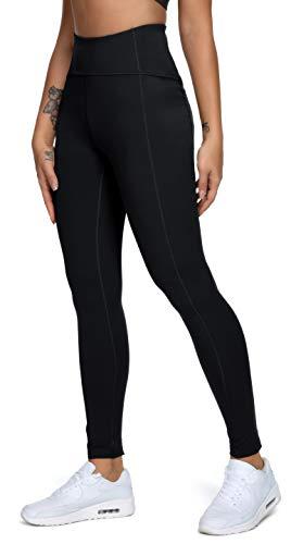 QUEENIEKE Polainas de Yoga para Mujeres Nueve Pantalones Medios de Correr Power Flex de Alta Cintura para Gimnasio Color Negro Tamaño M