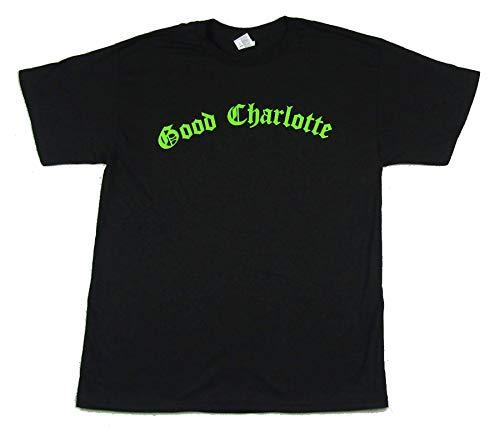 Good Charlotte Green Name Logo Black T Shirt (S)