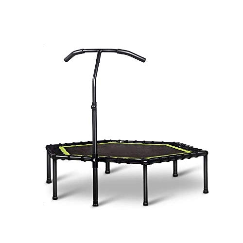Rebounder Adult Fitness Weight Loss Trampoline Indoor Noiseless Bouncing Bed Men And Women General Trampoline Outdoor Recreation Trampoline with Adjustable Handrail Max Loa Exercise Equipment