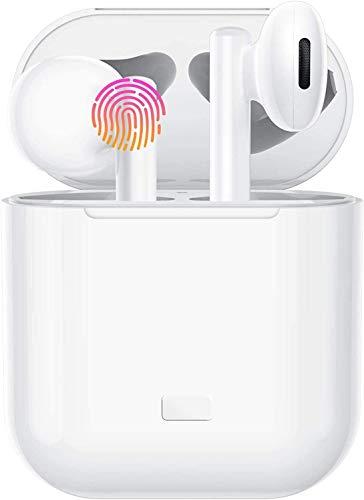Auriculares Inalámbricos Bluetooth 5.0, Auriculares Bluetooth Deportivos IPX5 Impermeable, In-Ear Cascos Bluetooth Inalámbricos con Microfono Dual y Caja de Carga para iPhone/Android/Samsung