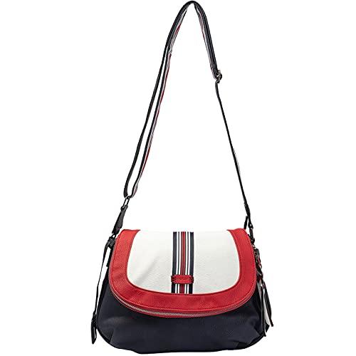 Rieker Damen H1115 Handtasche, Blau Kombi, 310x60x230