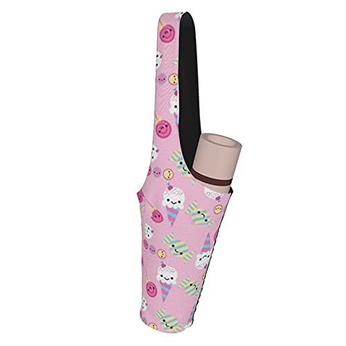 Kteubro Cute Sweets Pink Yoga Mat Bag con bolsillo pequeño y grande tamaño lindo Yoga Mat Holder