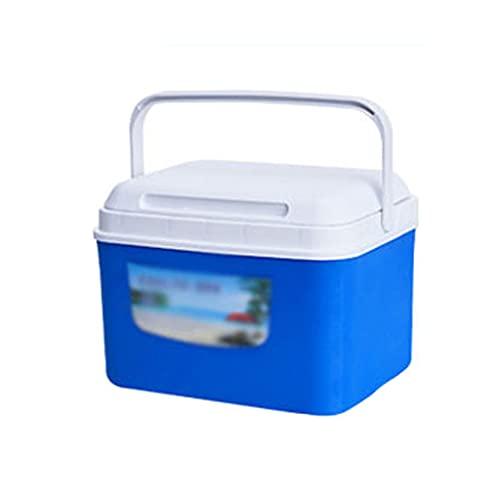 SHENXINCI 5/8 litros Nevera Portatil y Rigida Incubadora/Refrigerador, Materiales de Grado Alimenticio Porta Alimentos,Úselo en Múltiples Escenarios, como en Casa/Sin Conductor/Comercial,Azul/Naranja