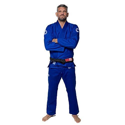 KINGZ Kimono estilo kimono brasileño de BJJ Gi azul brasileño Jiu-jitsu Gi de 7 mm (A1)