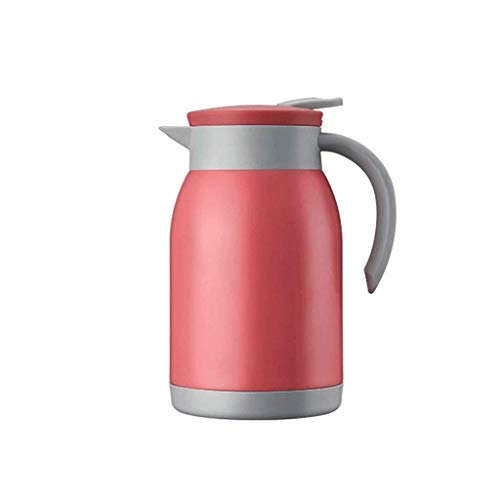 LIANGANAN Taza de agua portátil, termo térmico para café, jarra de café, termo aislado para mantener caliente, jarra térmica de doble pared de acero inoxidable para café, té, bebidas zhuang94