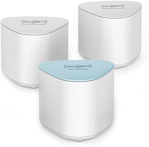 SimpliNET2 Whole Home AC2100 Mesh WiFi System with Firewall Network Defense 3 Pack 1 Router product image