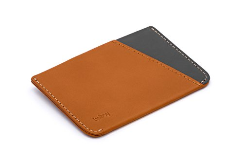 Bellroy Micro Sleeve, slim leather wallet (Max. 6 cards and bills) - Caramel