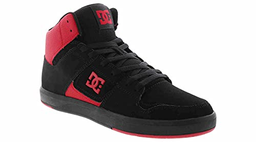 DC Cure Casual High-Top Skate Shoes Sneakers Black/Black/Red 10.5 D (M)
