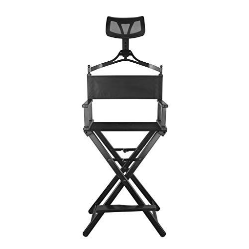 VAIY Klappbarer Make-up-Stuhl Makeup Telescopic Artist Director Chair Tragbarer Make-up-Stuhl (Color : Black)