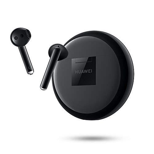 HUAWEI FreeBuds 3 - Auriculares Inalámbricos con Cancelación de Ruido Activa (Chip Kirin A1, Baja Latencia, Conexión Bluetooth Ultrarápida, Altavoz de 14 mm, Carga Inalámbrica) Color Negro