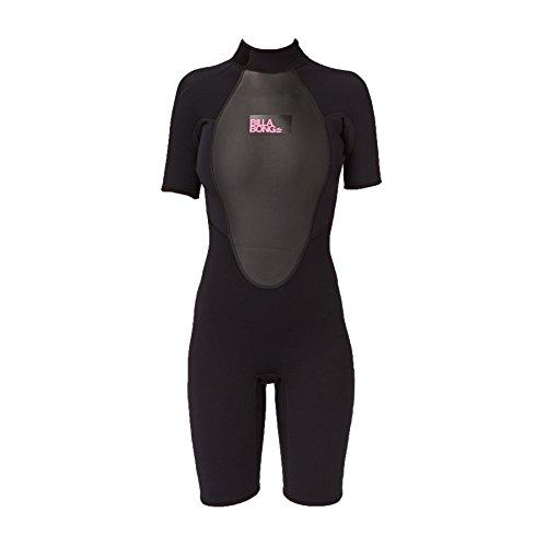 BILLABONG Ladies Launch 2mm Back Zip Shorty Black S42G03 Sizes- - Ladies 10