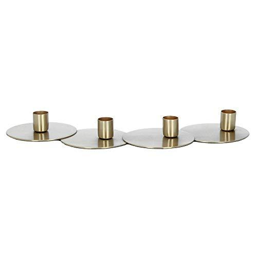Nordal kandelaar kaarsenhouder circles voor 4 kaarsen messing advent
