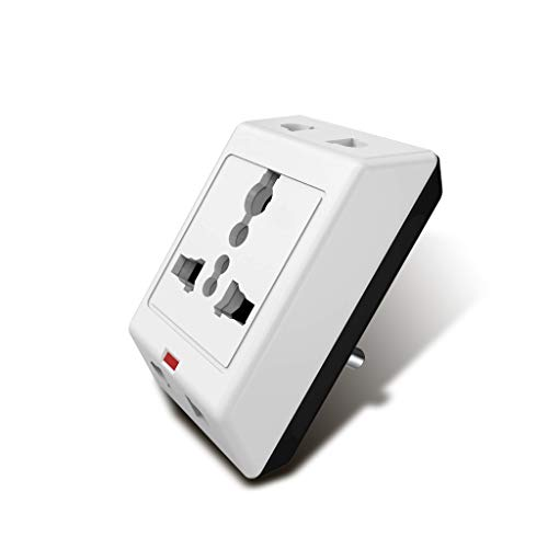 Geep Extreme 3 Pin Travel Multi Plug with Surge Protector, White