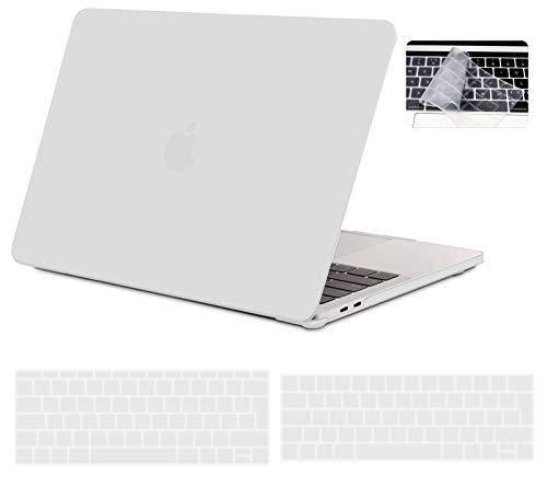 iNeseon Funda MacBook Pro 13 2019/2018/2017/2016, Protector Carcasa Case y Cubierta del Teclado EU para MacBook Pro 13 Pulgadas con/sin Touch Bar Modelo A2159/A1989/A1706/A1708, Claro Helado