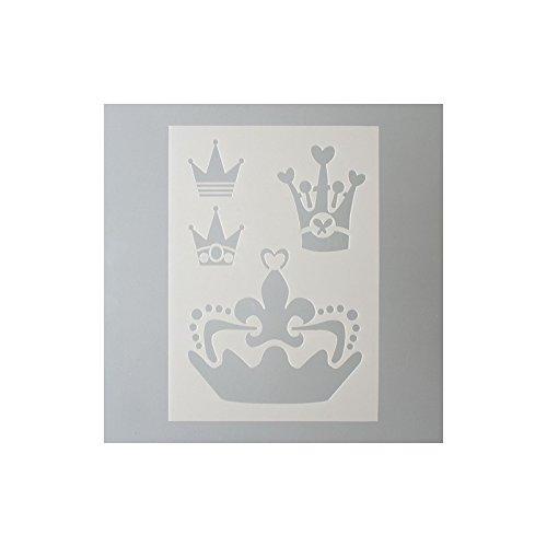 EFCO sjabloon kroonen/4 designs DIN, kunststof, transparant, A 5