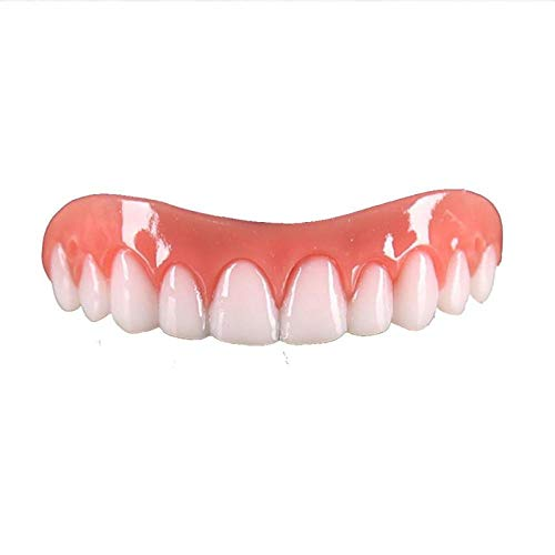 Temporary Dentures Dental Veneers Comfort Fit Teeth Top Cosmetic Veneer One Size Fits All Denture Adhesives False Denture Teeth 3 Pairs