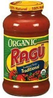 Ragu Organic Traditional Pasta Sauce 23.9oz Jar (Pack of 4)