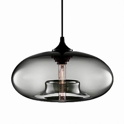 Moderne Hängende Loft Grau Farbe Glas Glanz Pendelleuchte Industrielle Dekor Leuchten E27 220 V Küche Restaurant Wohnzimmer Schlafzimmer (3#grau)