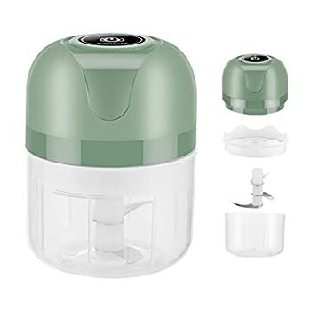 Garlic Chopper,250ml Mini Electric Chopper with USB Charging Cable & Manual for Chop Onion Ginger Vegetable Pepper Spice Meat Baby Food Easy Cleaning,Garlic Machine BPA Free  Electric