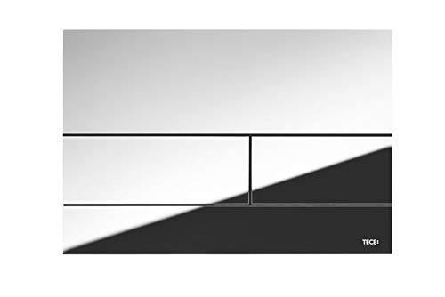 TECE Square Betätigungsplatte für WC (Chrom glänzend, Zweimengentechnik, bedienbar von Oben und vorne) 9240831, grau