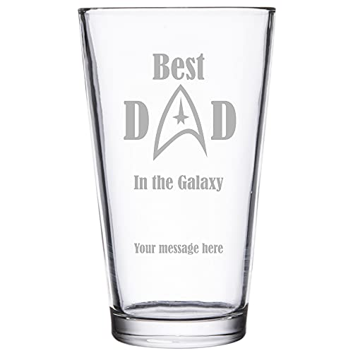 Star Trek Verre à bière personnalisé Inscription Best Dad in the Galaxie