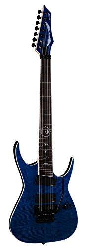Dean RC7X FM TBL 7-String Solid-Body Electric Guitar, Blue