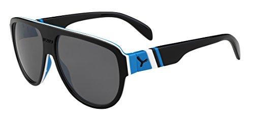 Cébé Miami Lunettes de Soleil Homme, Noir/Bleu, Taille L