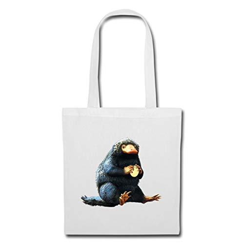 Spreadshirt Fantastic Beasts Niffler Protects Coin Tote Bag, white