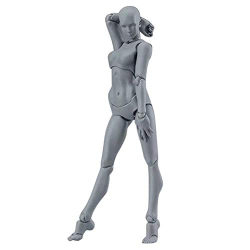 yamybox Drawing Digital Action Figure Model for Artist Mannequin Man and Woman Set Action Figure Toy Drawing Digital Desktop Decoration Home Accessories,D