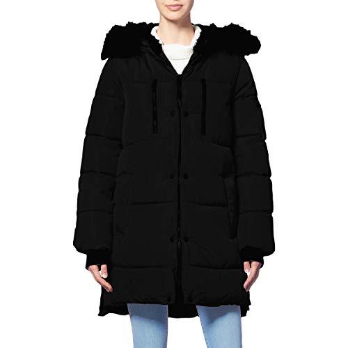 Jessica Simpson Womens Winter Cold Weather Puffer Coat Black L