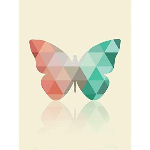 Lazodaer - Kit de pintura de diamante 5D para adultos, kit de pintura de bordado de diamante, arte para decoración de pared del hogar, arte de mariposa, 30 x 39,9 cm