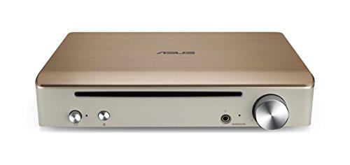 ASUS SBW-S1 Pro - Grabadora de BLU-Ray Externa + Tarjeta de Sonido, Salida de 7.1 Canales, Amplificador de Auriculares de 600 Ohm, Compatible con Mac, encriptación de Discos, E-Media, PowerDVD