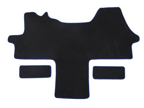 Alpha-Tex Fußmatte 1614 - Autoteppich (1-TLG. + 2 Einstiege in Qualität Classic schwarz, Umrandung schwarz)