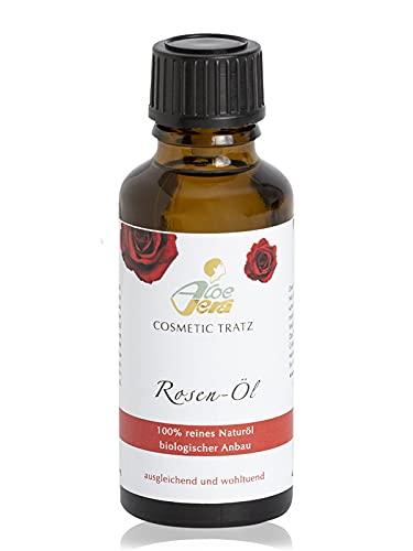Aloe Vera Cosmetic Tratz Rosen-Öl Hautstimulierendes Naturöl 30ml - Spa Pflegeöl - Naturkosmetik Made in Germany