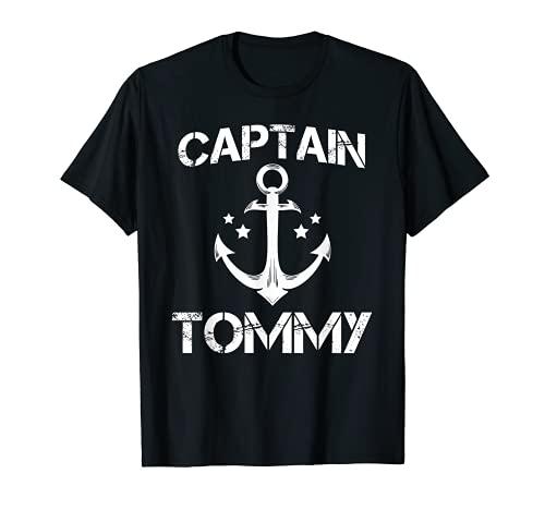 CAPTAIN TOMMY - Regalo de cumpleaños personalizado para barco Camiseta