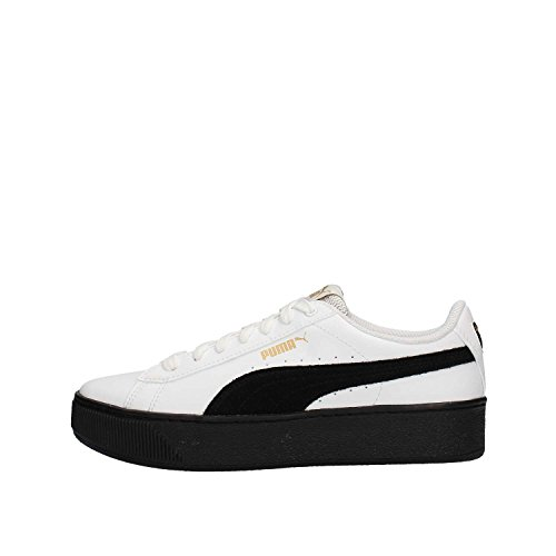 Puma Sneakers Vikky Platform L Bianco-Nero 364893-04 (37 - Bianco)