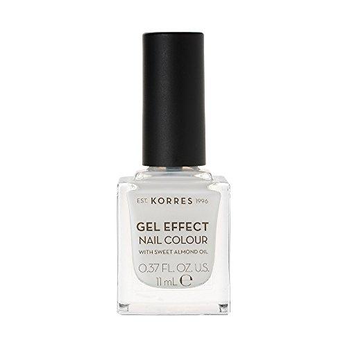 Korres Gel Effect Sweet Almond oil Nagellack, 02 porcelain white,1er Pack (1 x 11 ml)