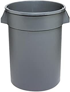 Continental 4444GY 44-Gallon Huskee Waste Receptacle,Round, Gray
