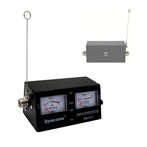 Mcbazel Surecom SW-114 SWR RF-Feldstärkemessgerät mit SO-239 UHF-Stecker für CB-Betrieb