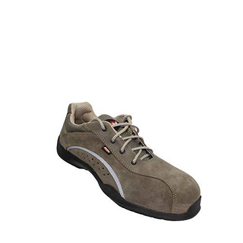 Zapatos de Seguridad PSH S1P SRC Zapatos de Trabajo Zapatos de Negocios de Calzado Que emigran los Zapatos de Trabajo Plana Braun, Tamaño:35 EU