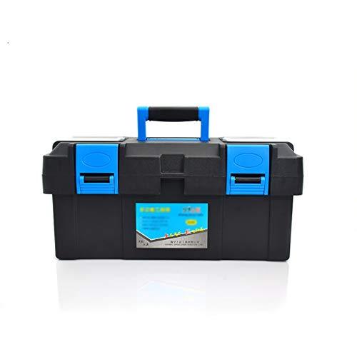 cassetta attrezzi 40 cm ZSHLZG Cassetta degli Attrezzi Multi-Funzione Scatola di plastica casalinga Doppio Strato 14/17/19 Pollici (Dimensioni : 40cm*19cm*18.5cm)