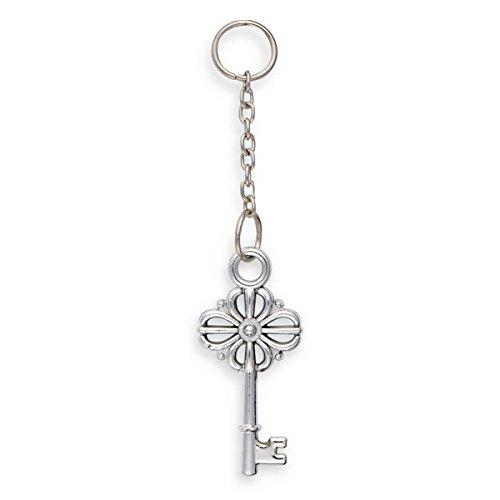 Club Green Silver Charm sleutel op ketting, zilver, 10 stuks
