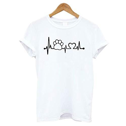 XIAOBAOZITXU Lifeline Women T Shirt Shirt Décontracté pour Unisexe Lady Girl Hipster Hauts Blancs M