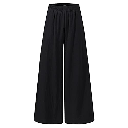 Pantalones de Verano para Mujer Kaftan Pantalones de Pierna Ancha Casual Cintura