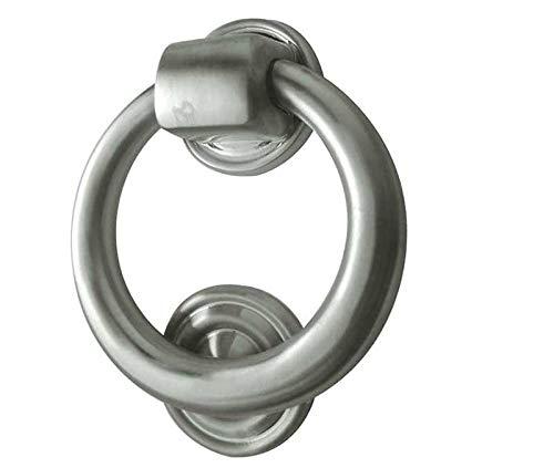 e-hardware Türklopfer, Ringform, satinierter Chrom