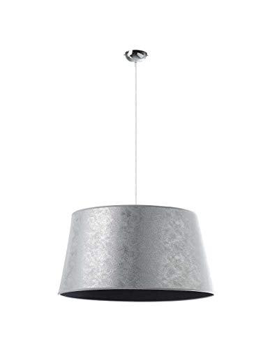 EXO Lighting - Deckenleuchte SELMA Kunstfaser silber E27 Innen IP20 (Ø60 cm) Hängeleuchte für Wohnzimmer, Loft oder Hotelempfang