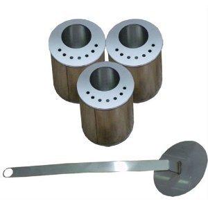 New 3 Bruciatori in acciaio tondo per riduttore di fiamma/risparmio bio etanolo/+ spegnifiamma camino/bio caminetto