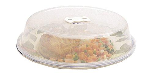 KitchenCraft - Tapa de Microondas para Comida con Ventilación de Aire, Hecha de Plástico Libre de BPA, Se Ajusta a Platos de hasta 26 cm