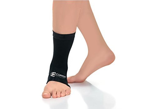 Copper Compression Recovery Ankle Sleeve - Guaranteed Highest Copper Content Infused Ankle Brace Wrap Sock Stabilizer for Men and Women. Wear to Support Stiff and Sore Muscles and Joints. Fit for Men