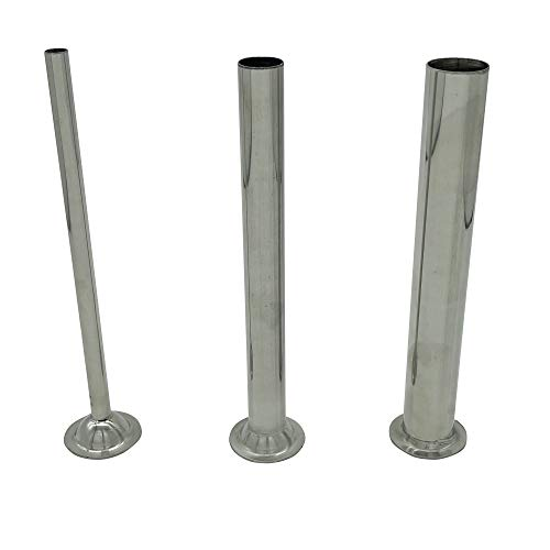 YBSVO 3 Sizes Stainless Steel Sausage Stuffing Tubes and Sausage Stuffer Funnels for LEM Sausage Stuffers